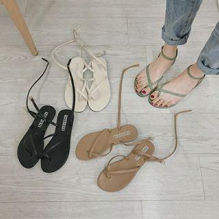 交叉簡約風涼鞋
