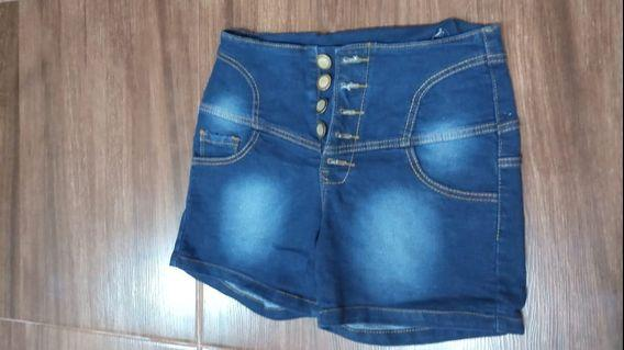 Hot pants jeans biru