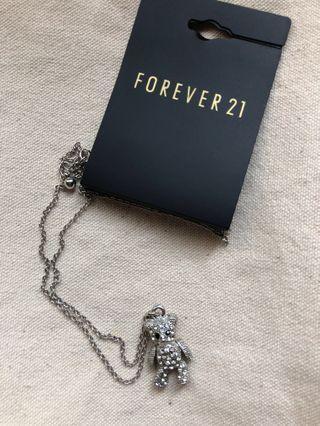 Forever 21 小熊項鍊(全新)