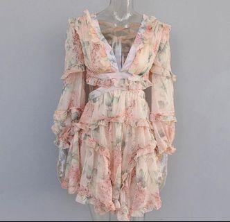 Zimmermann Cut Out Floral Dress