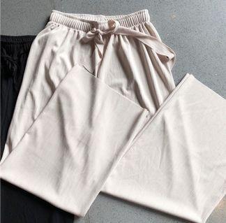 高腰寬鬆寬褲 綁帶 卡其色 #恭喜旋轉七歲囉!