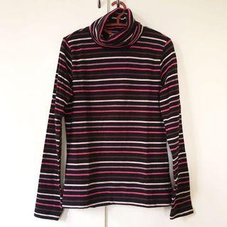 G2000 Long Sleeved Striped Turtleneck Top