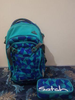 Tas Daypack Satch Match Blue Soft 30L