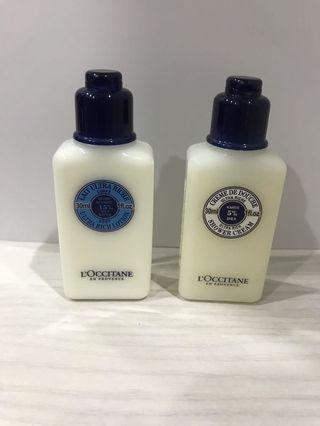 Loccitane Ultra Rich Lotion and Shower Cream