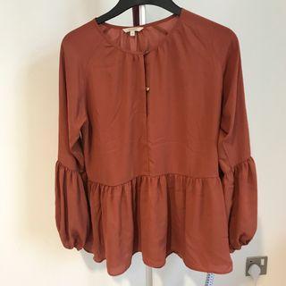 et cetera terracotta shirt