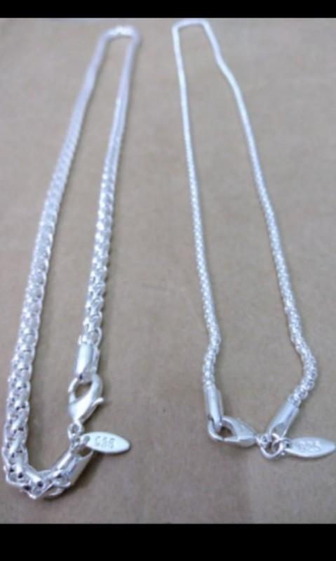 銀項鍊 silver necklace販賣商品為左邊那款