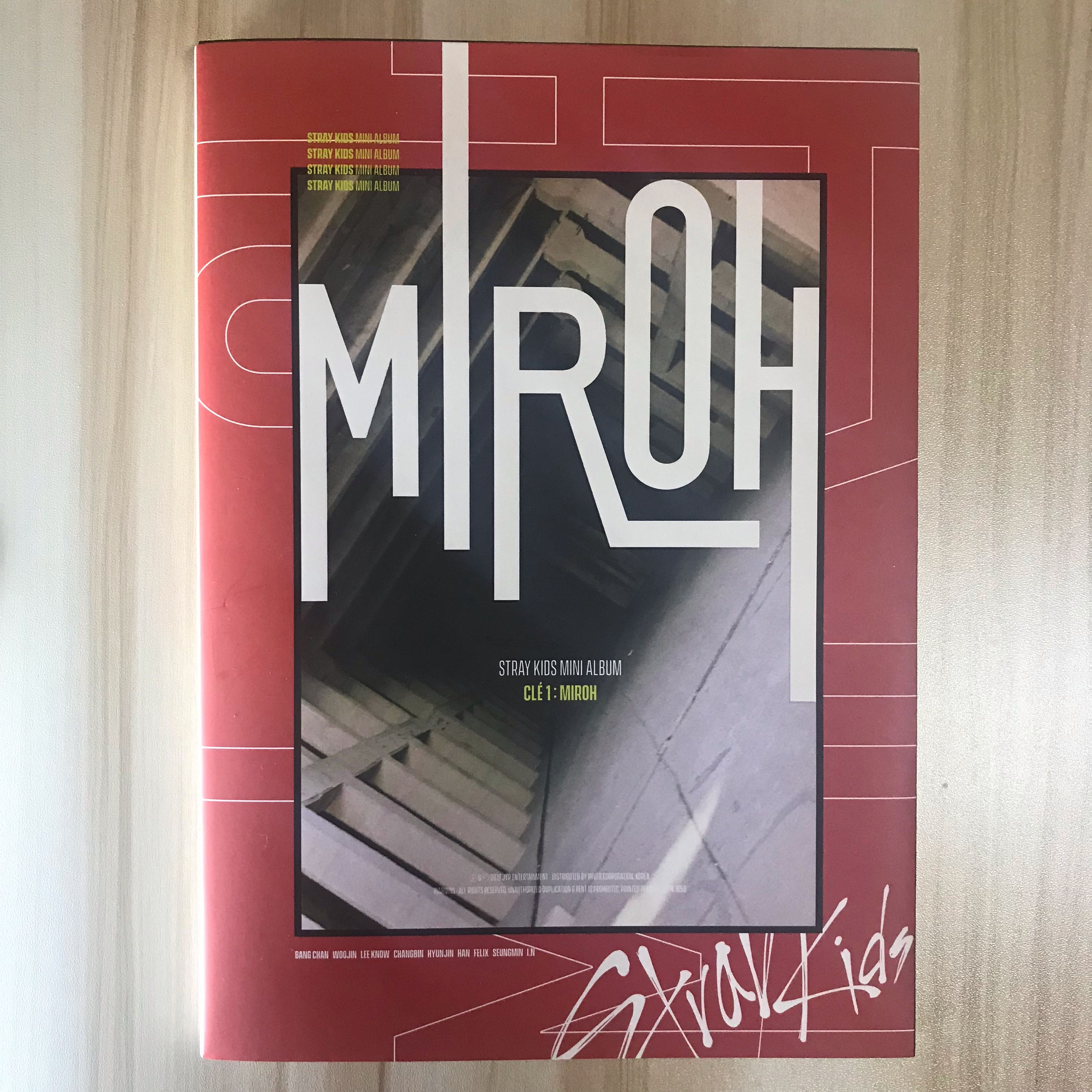 wts ] unsealed stray kids limited edition miroh album