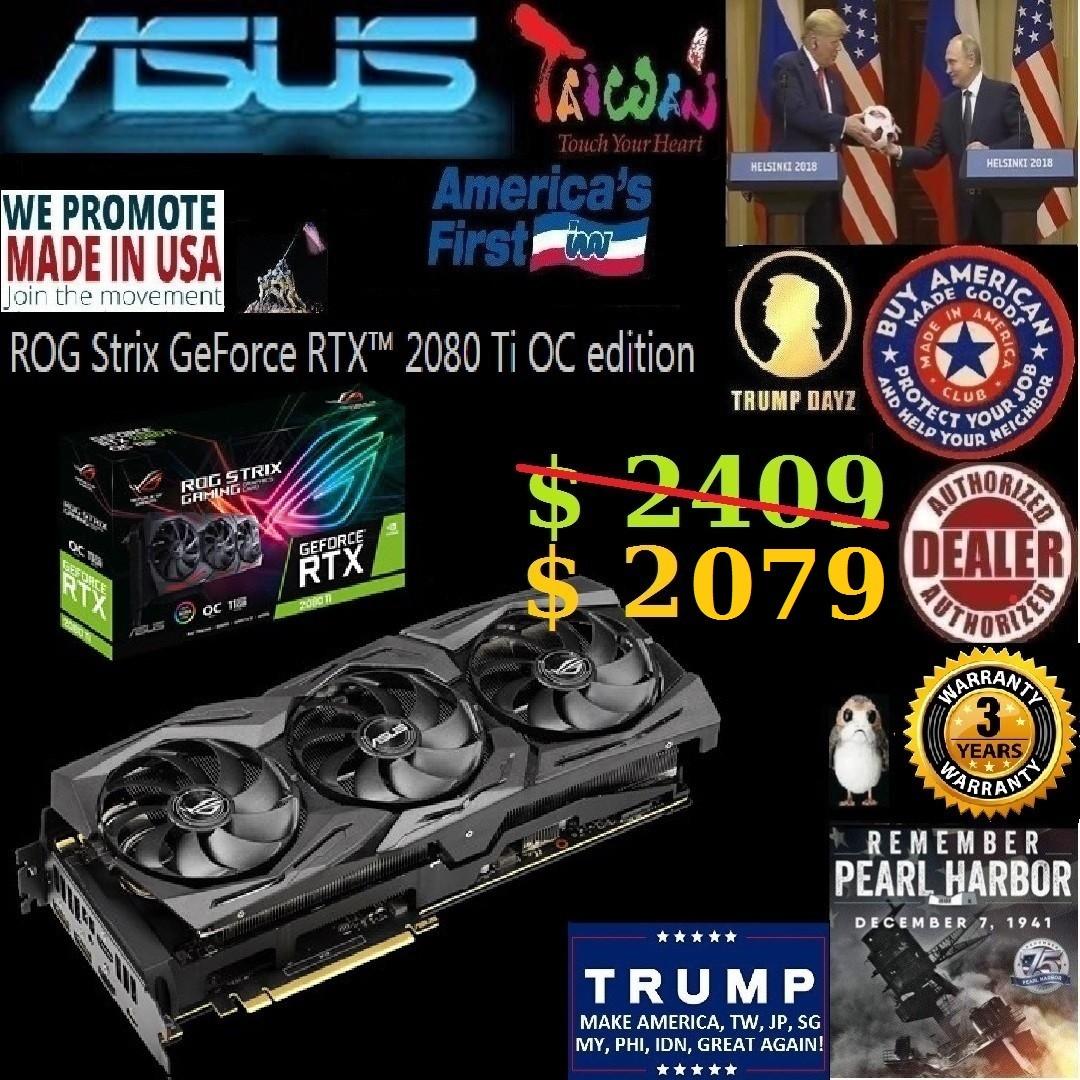 ASUS ROG Strix RTX 2080 Ti OC edition 11GB GDDR6 GeForce