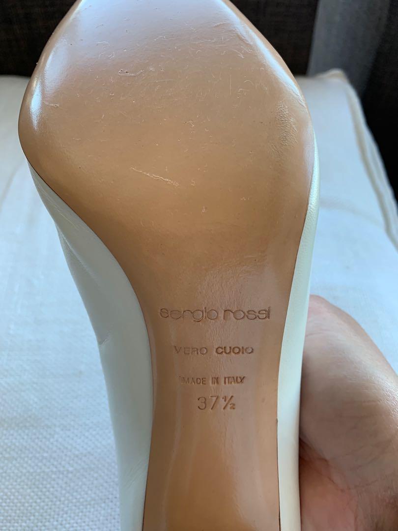 Authentic Sergio Rossi Latte Mules Size 37.5 Brand New!