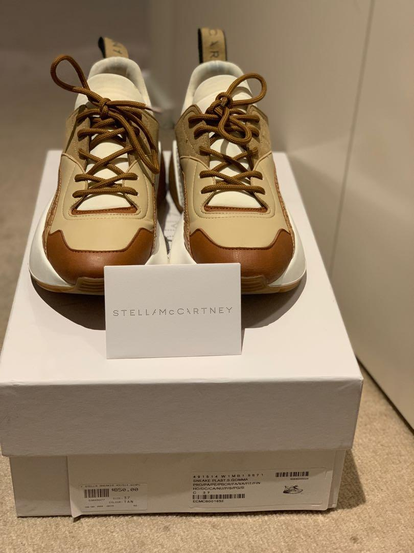 Authentic Stella McCartney Eclypse Leather and Suede Sneakers Size 37
