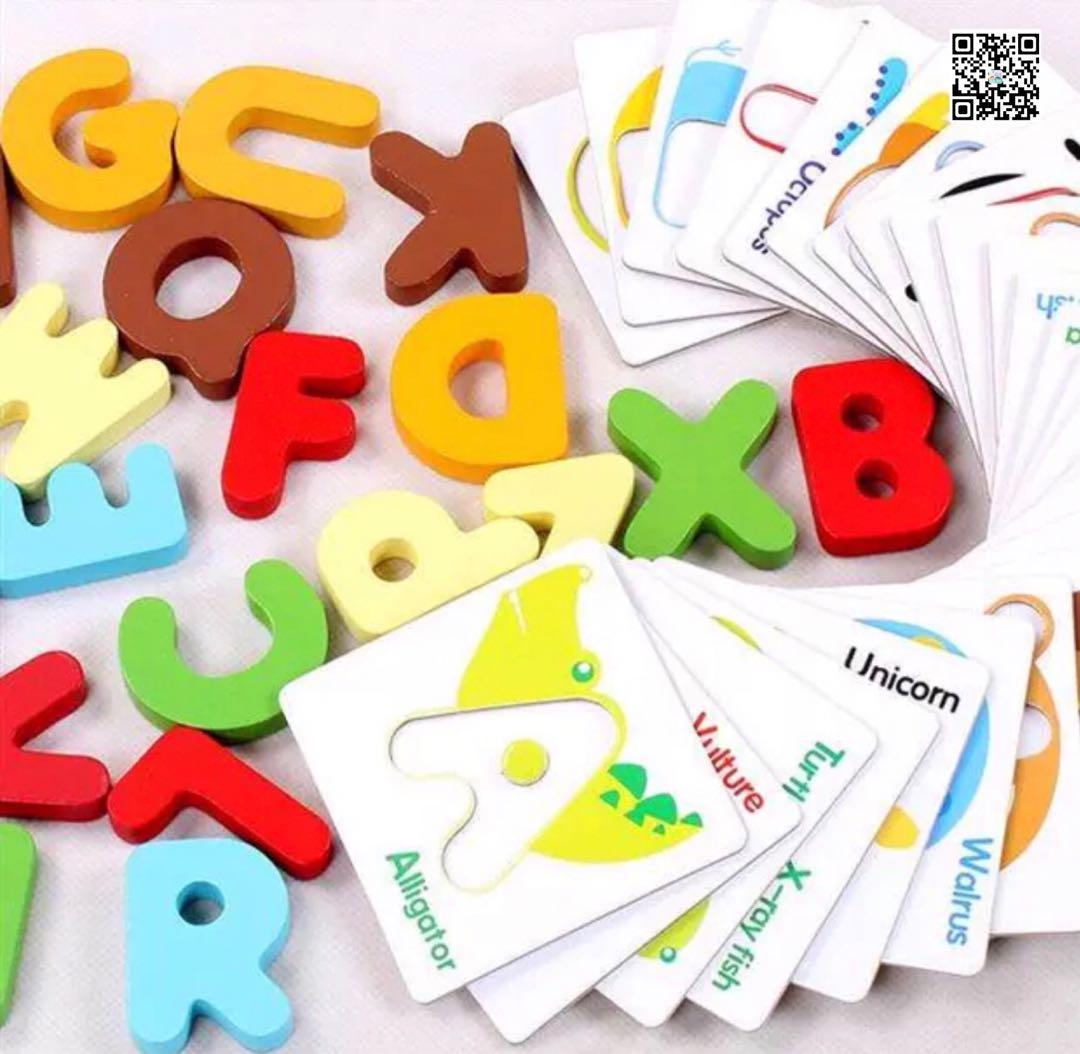 A-Z 立體字母配對圖卡