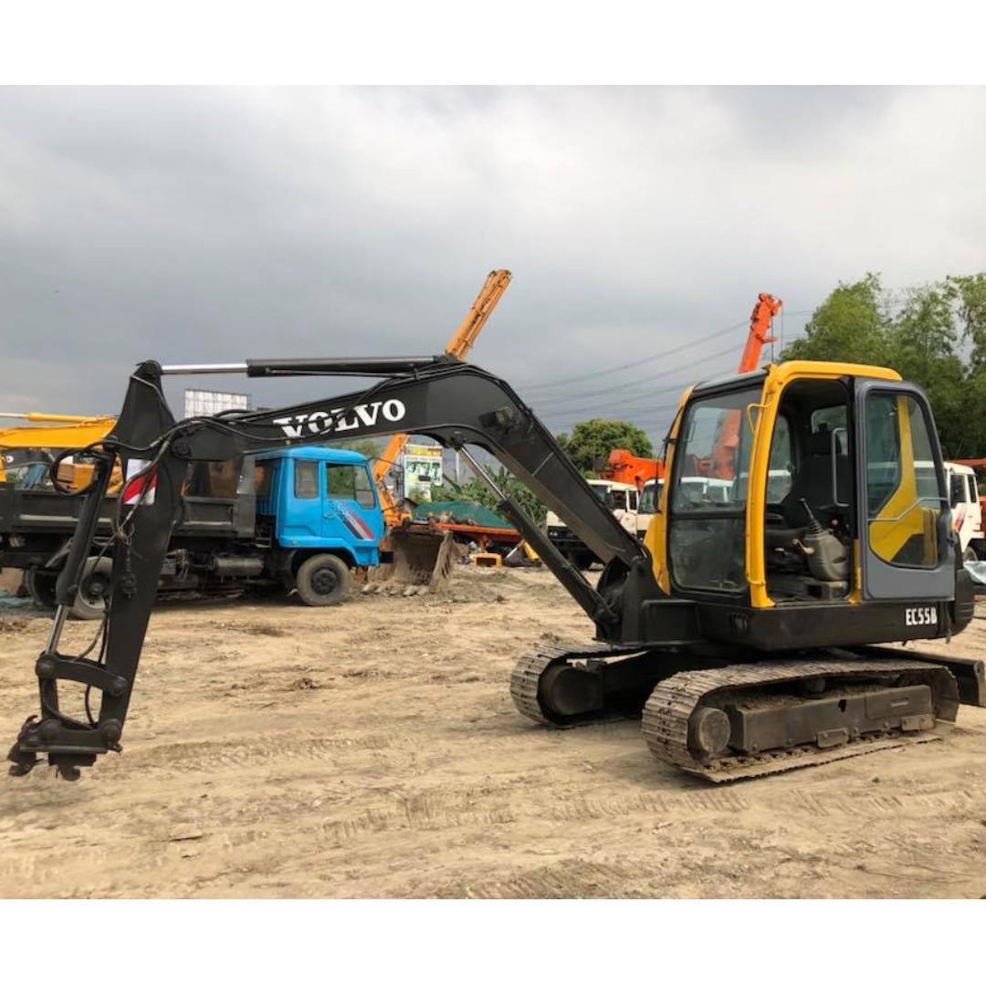 Backhoe Volvo EC55B Mini excavator on Carousell