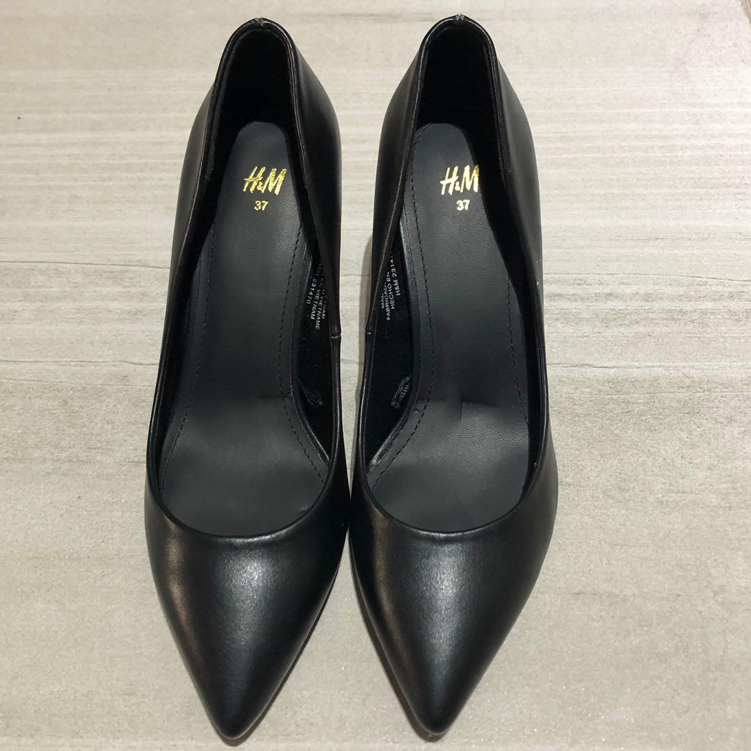 H\u0026M Black Court Shoes High Heels Pumps