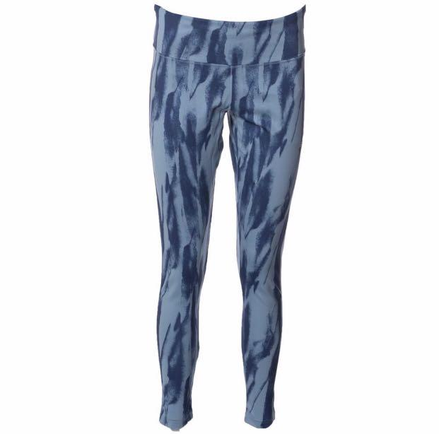 BNWT Adidas Design 2 Move Climalite Printed Leggings Blue