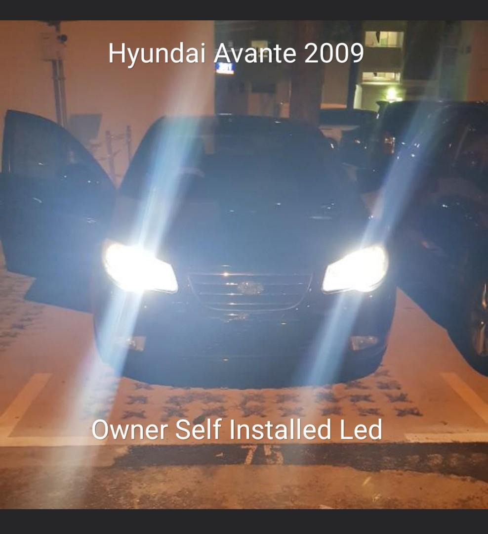 Bright H7 Led Bulb on Hyundai Avante 08 Headlight not Hid