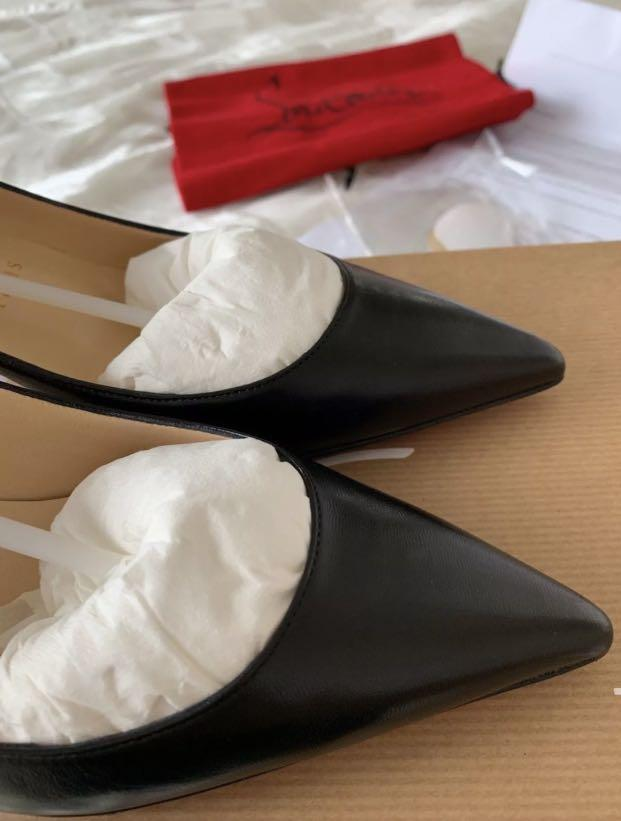 Christian Louboutin Decolette 554 45mm Black leather pump 36.5 Brand New with Receipt RRP$975