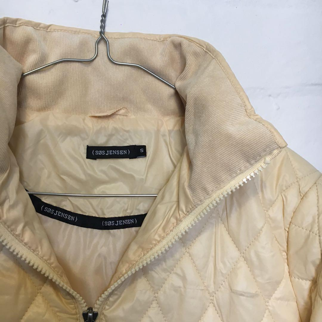 Cream/Off-White Quilted Puffer Jacket | Brand: SØS Jensen