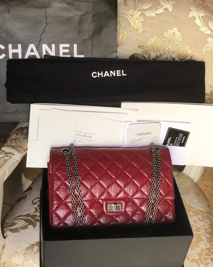 FAST SALE! Chanel reissue 226 seri 15, RHW, complete set: ori rec, box, dustbag, card, holo, paper bag, booklet with serial no and date of purchase