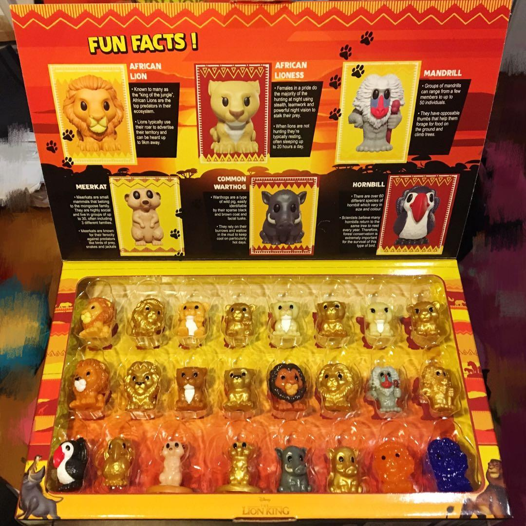 FULL SET OF 24 LION KING OOSHIES IN COLLECTOR CASE
