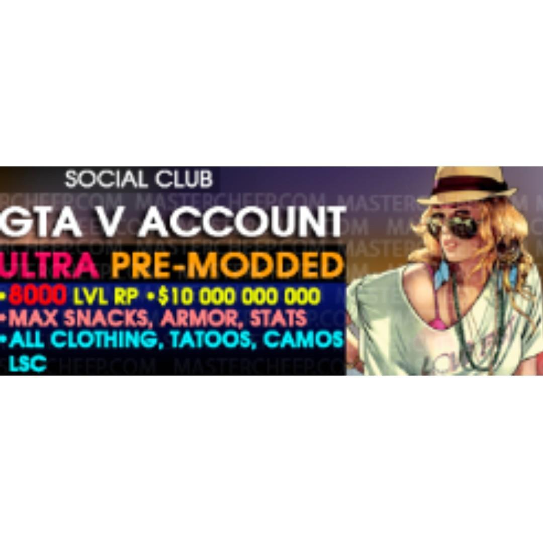 GTA V SOCIAL CLUB, Toys & Games, Video Gaming, Video Games