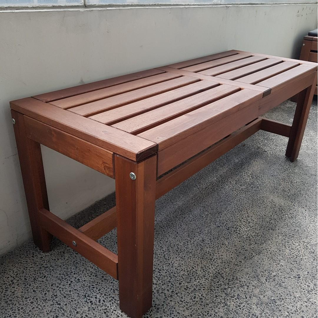 Remarkable Ikea Applaro Outdoor Bench On Carousell Squirreltailoven Fun Painted Chair Ideas Images Squirreltailovenorg