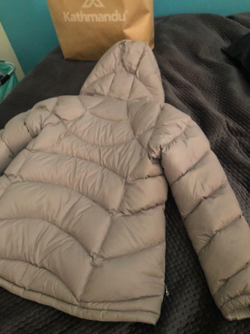 KATHMANDU Womens Hooded Puffer Jacket DuckDown 550 Size 10 RRP $349.95