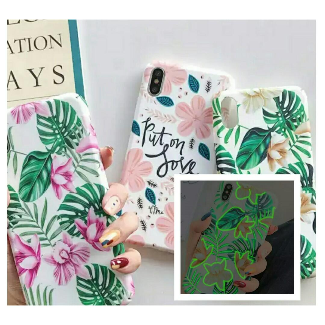 Leaves Case Glow in the dark