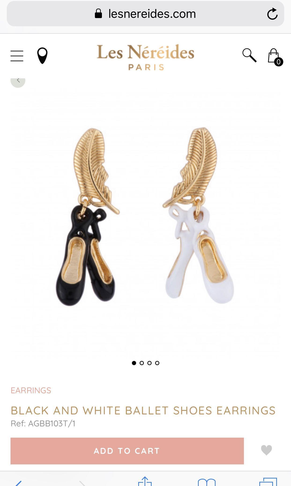 Les Nereides🥿🥿ballet shoes earrings🇫🇷