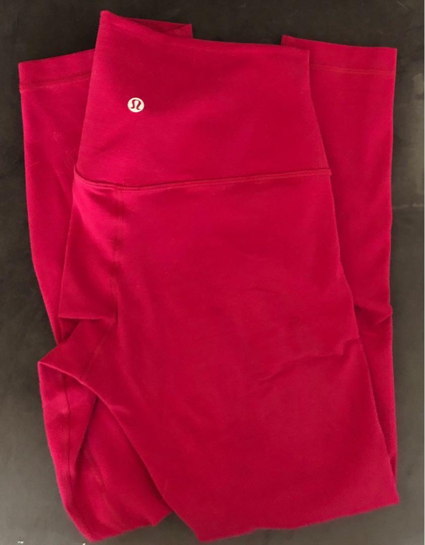 "Lululemon Ruby Red 25"" Align Pant 6"