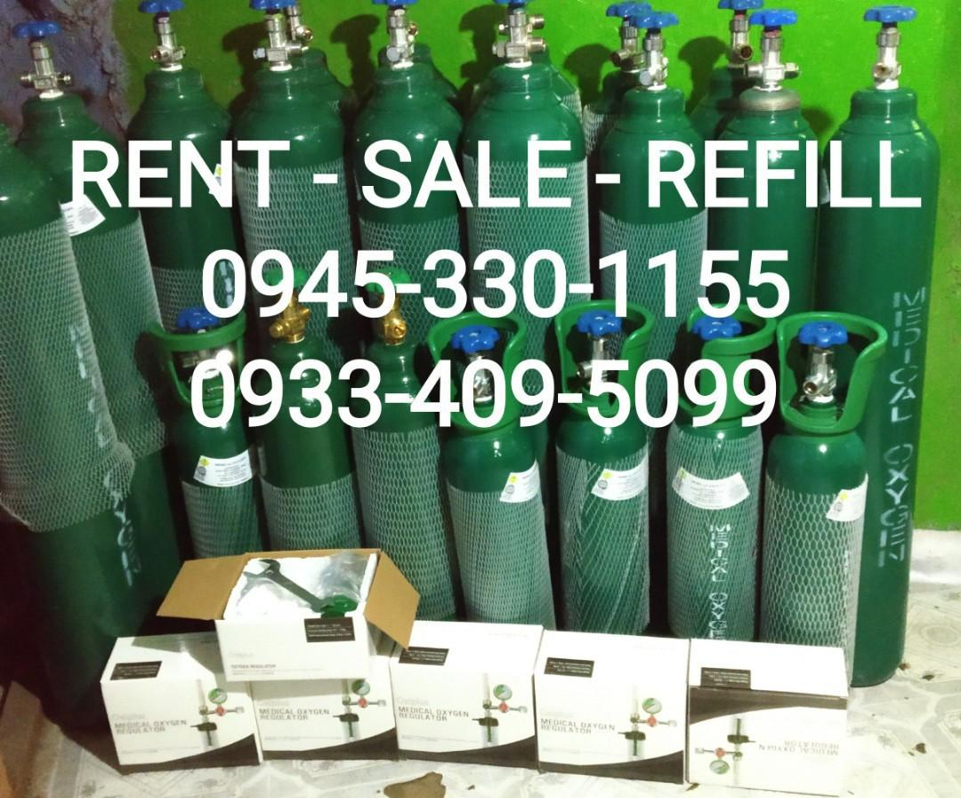 Medical oxygen tank sale or rent and refill the home service