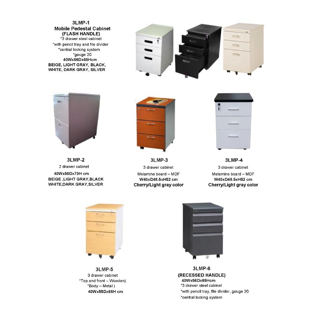 mobile pedestal drawer medical cabinet vertical cabinet