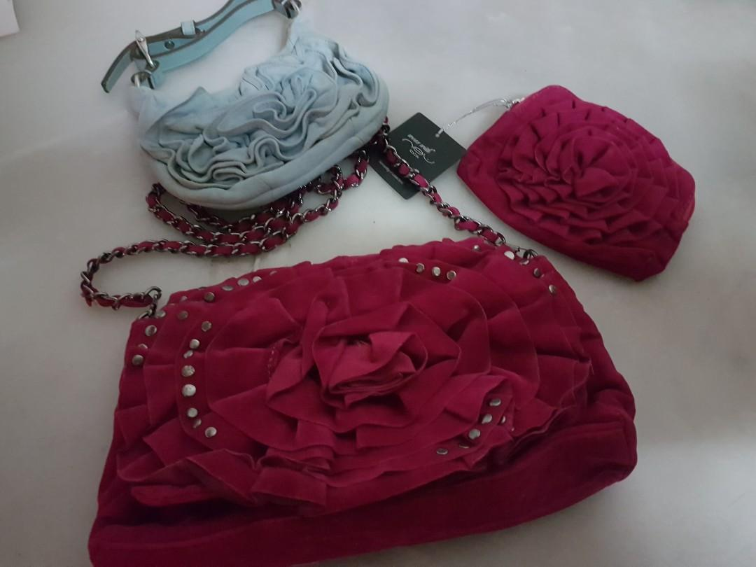 New YSL Yves Saint Laurent Nadia Rose Style Bag 2.55 shoulder sling croasbody pouch wallet purse