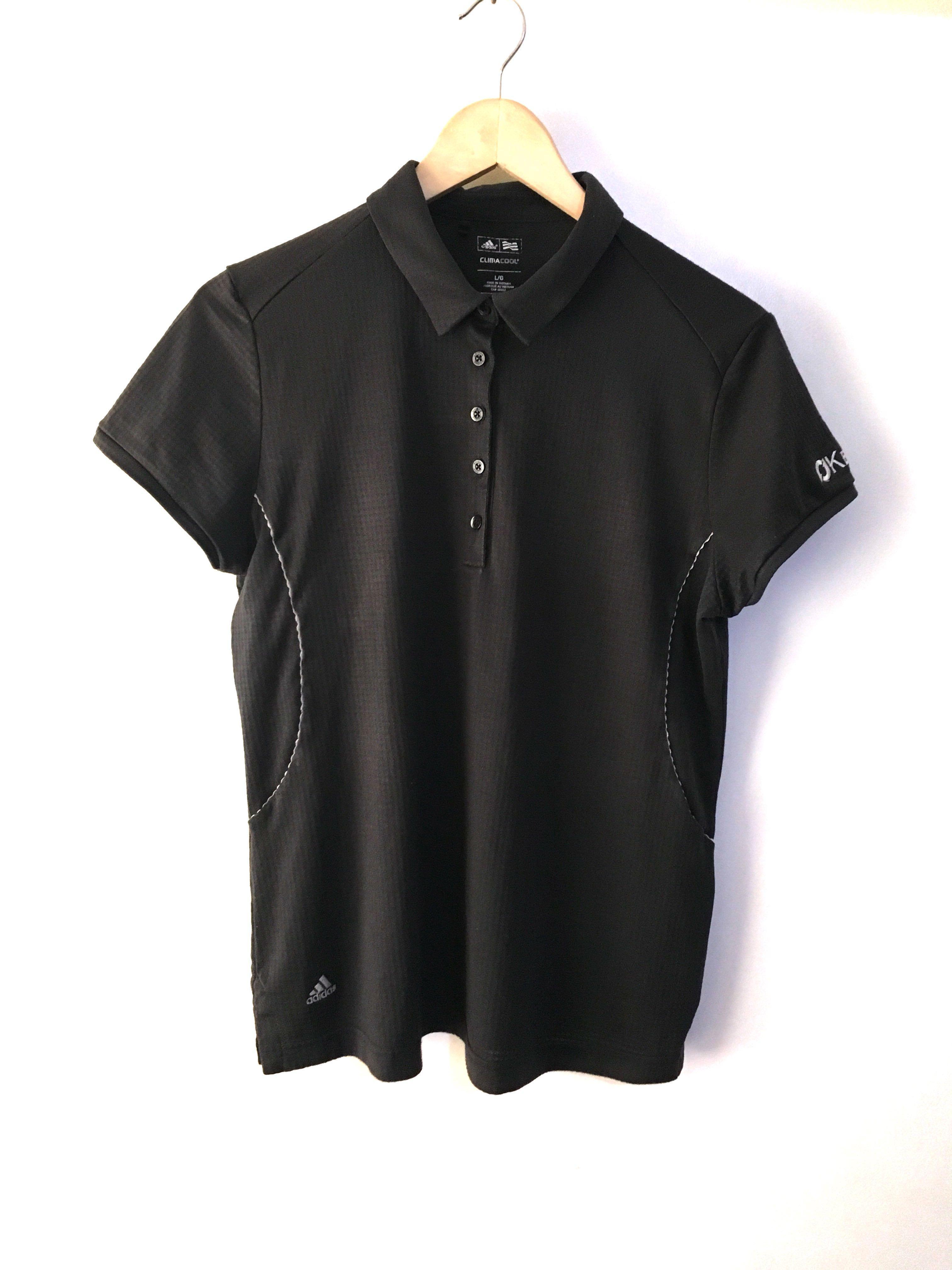 low priced 3abd8 31a6c Original Adidas Womens Black Climacool Golf Polo Shirt Top ...