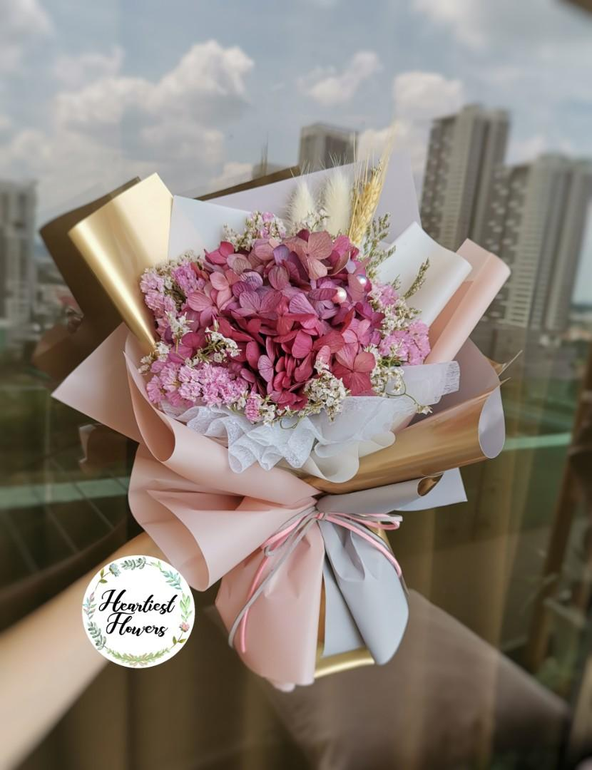 Preserved Hydrangea Bouquet Design Craft Others On Carousell
