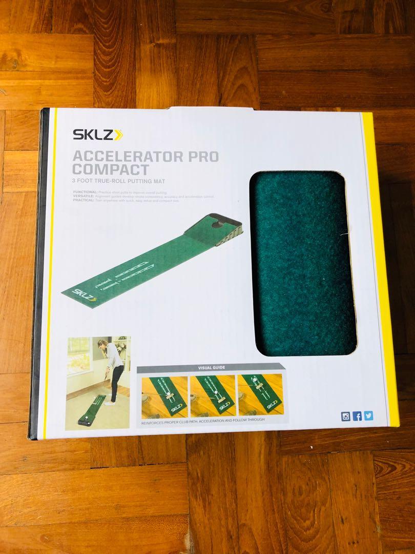 *Last 2weeks*SKLZ Accelerator Pro Compact True-Roll Putting Mat
