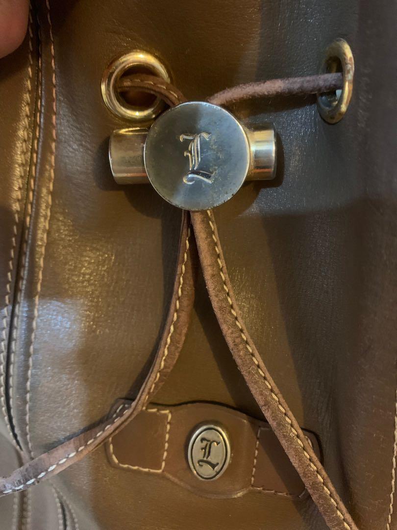 "Tas serut import authentic italy ""ML Group"" full import leather mulus luar dalam 25 x 25 cm jinjing imut, slempang cantik"