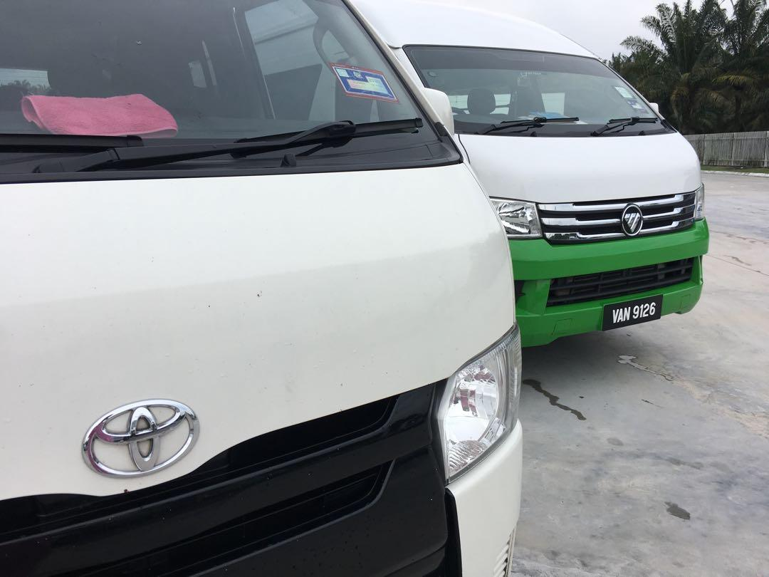 tour van / airport van / klia van / hotel van / family van
