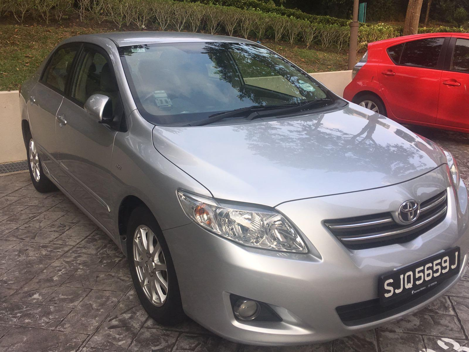 Toyota Altis for Rent (Pte Hire ready)