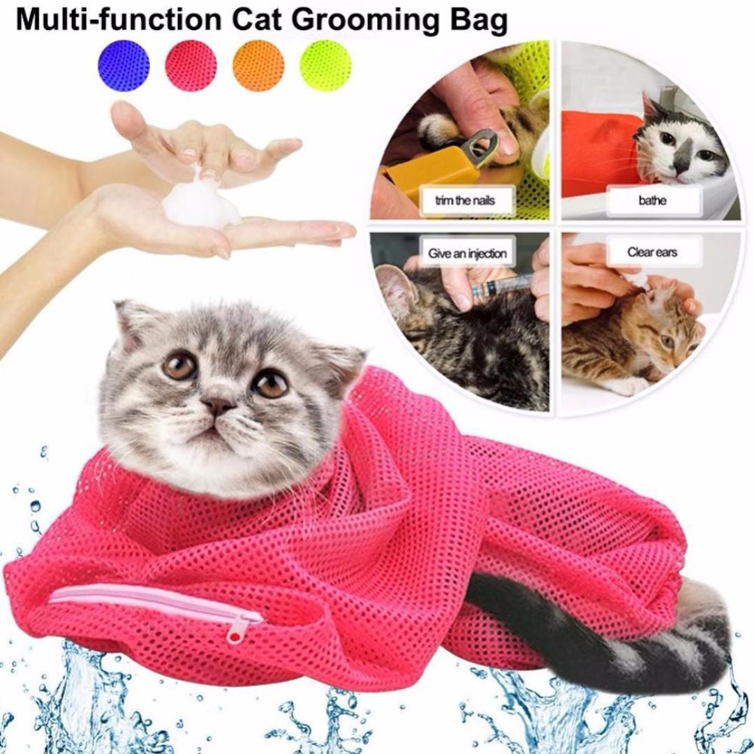 TPE039 Multifunctional Cat Grooming Bath Bag (Kitten Easy Convenience Sales)