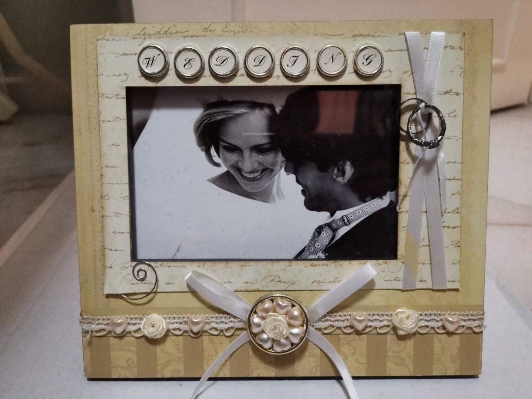 wedding photo frame with musical 1010 home furniture home decor on carousell carousell