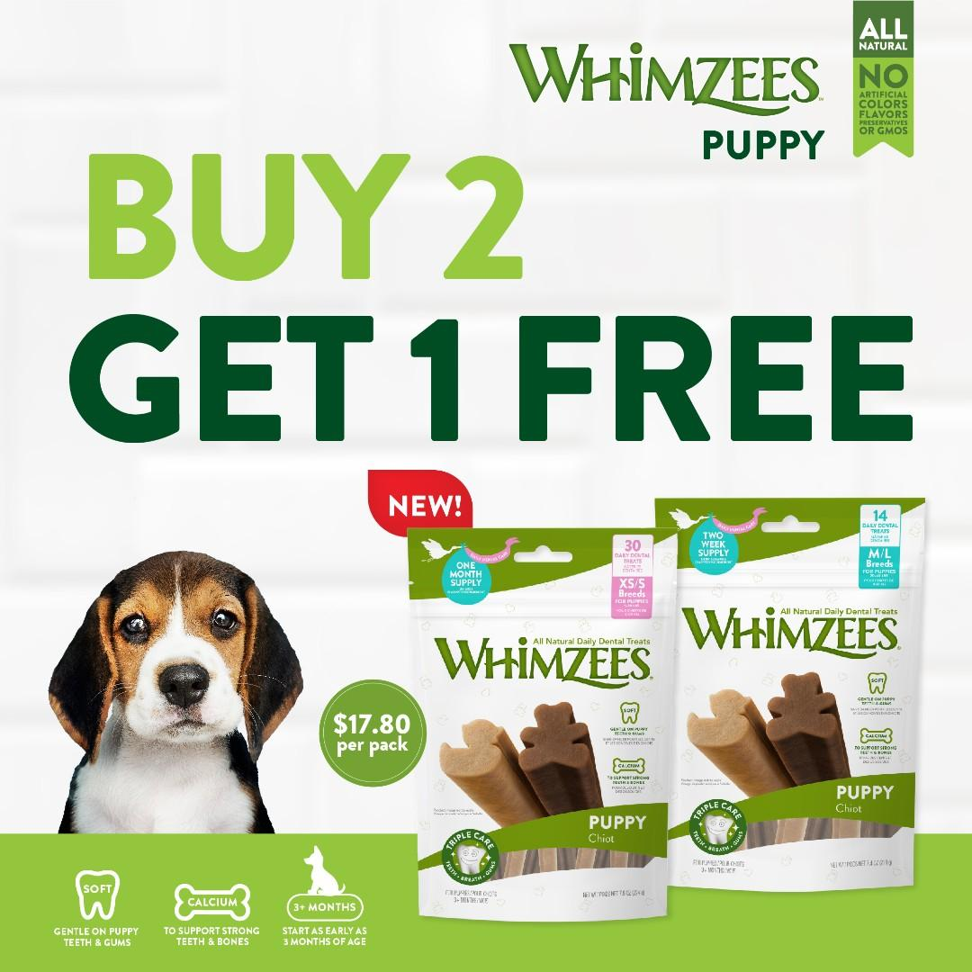 Whimzees Dental Treats for Puppies