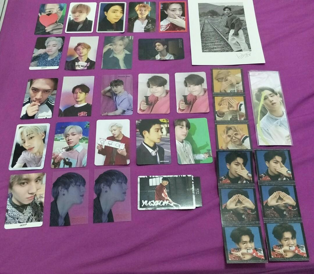 WTS - GOT7 OFFICIAL PHOTOCARDS, BOOKMARK, LYRICS CARD, STICKER OR TRADE TO ANY JB PHOTOCARDS