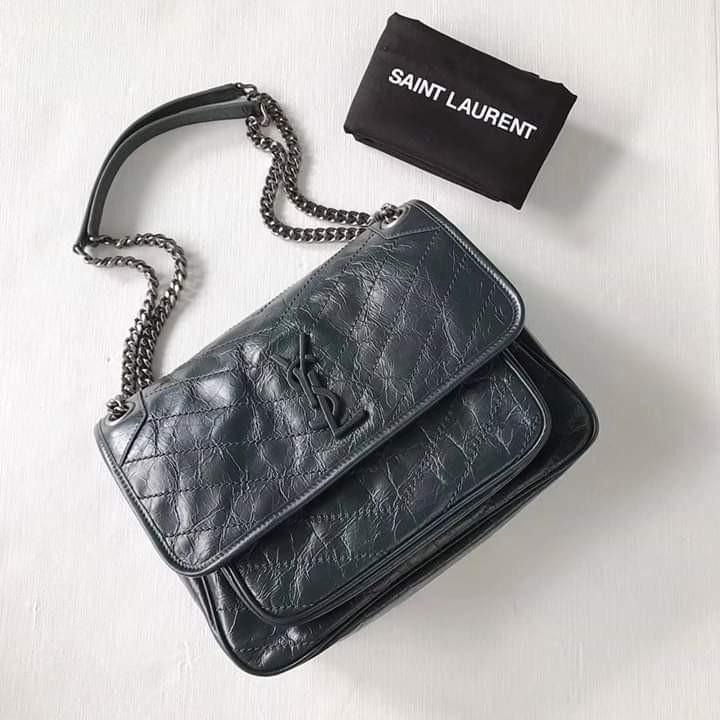 Ysl niki medium deep green only one left ! So hard to get , 2019 new color !