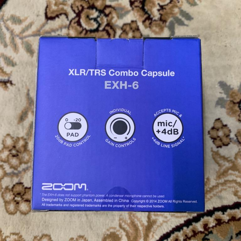 Zoom EXH 6 XLR / TRS Combo Capsule Extender for Zoom H5 H6 F4 F6 ( Limited Clearance )