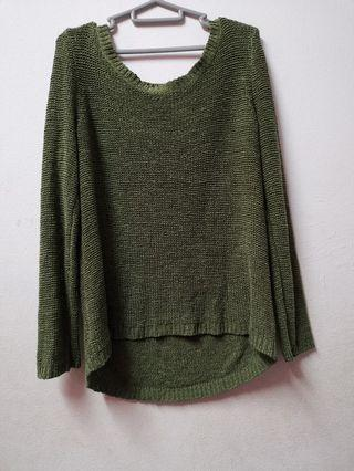 H&M Olive Green Knit Sweater