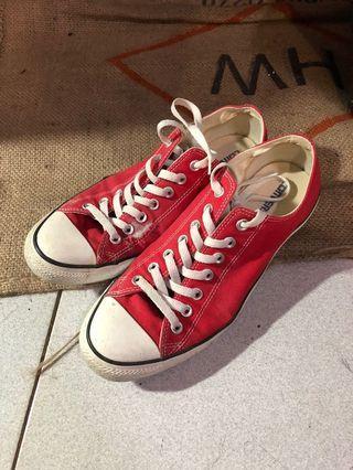 Converse 紅色低筒28cm