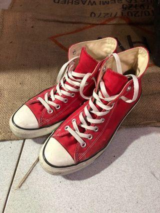Converse 紅色高筒28cm