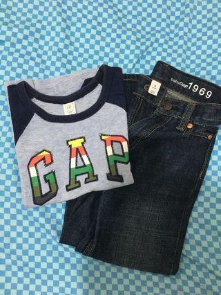 Gap Pants & Logo Shirt