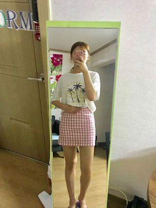 Chuu 韓國格子A字裙