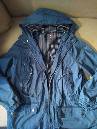 🔵f21 blue spring jacket